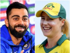 Virat Kohli and Ellyse Perry were the big winners at the ICC awards (Anthony Devlin/Gareth Fuller/PA)