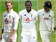 Ben Stokes, Jofra Archer and Dan Lawrence (Jon Super/Mike Hewitt/Steven Paston/PA)
