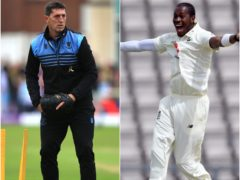 Jon Lewis and Jofra Archer (Mike Egerton/Mike Hewitt/PA)