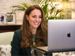 The Duchess of Cambridge chats to parents via a video call (Kensington Palace/PA)