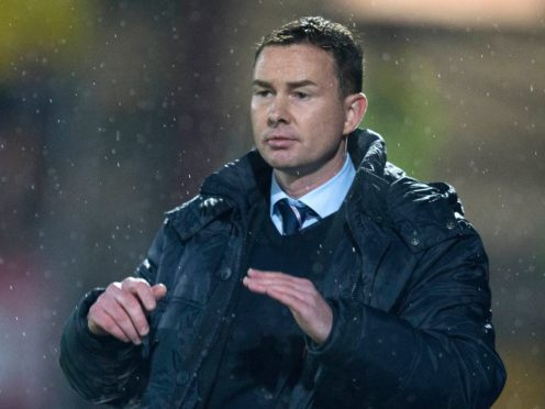 Derek Adams was sent of at the death against Walsall (Jeff Holmes/PA)