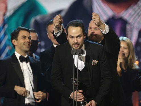 Matthew Burton collected a National TV Award on behalf of Educating Yorkshire (Yui Mok/PA)