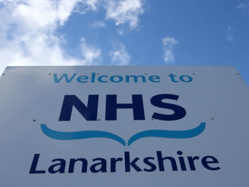 NHS Lanarkshire has said it has fewer than 50 free hospital beds (Andrew Milligan/PA)