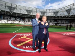 West Ham chairmen David Gold and David Sullivan (right) following the move from Upton Park to the Olympic stadium (Nick Potts/PA)