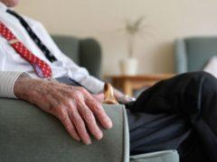 An elderly man at a retirement home in Birmingham (Joe Giddens/PA)