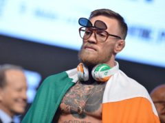 Conor McGregor ends his 12-month hiatus from the octagon this weekend (PA)