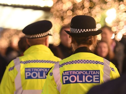 Metropolitan Police officers on patrol (PA)