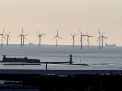 Increasing amounts of wind power helped renewables overtake fossil fuel power in the UK in 2020 (Peter Byrne/PA)