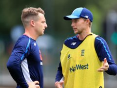 England's Joe Root, right, with Jos Buttler (Mike Egerton/PA)