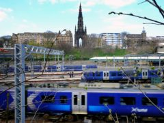 ScotRail trains at Edinburgh Waverley before the pandemic (Jane Barlow/PA)