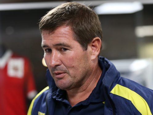 Nigel Clough saw his Mansfield side win at Oldham (Barrington Coombs/PA)