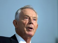 Tony Blair said all adults could be vaccinated by the end of March if new vaccines come on stream (Aaron Chown/PA)