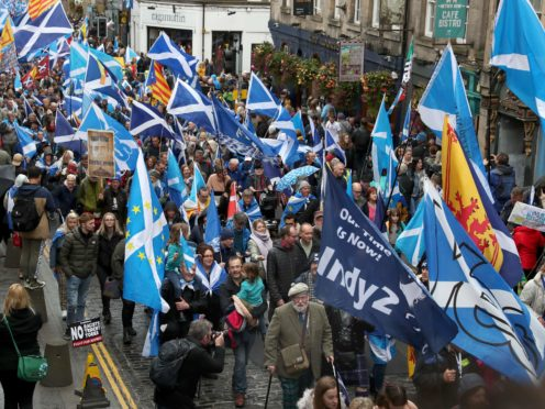 A new poll found a majority of Scots would support independence (Andrew Milligan/PA)