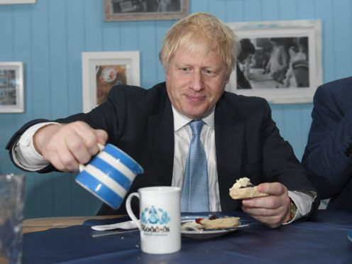 Prime Minister Boris Johnson on a previous visit to Cornwall (Stefan Rousseau/PA)