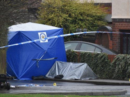Police activity in the Pensnett Road area of Brierley Hill, West Midlands (Matthew Cooper/PA)