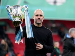 Manchester City and manager Pep Guardiola are hoping to get their hands on the League Cup yet again (John Walton/PA)