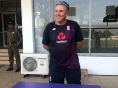 Chris Silverwood was pleased to see Australia under pressure on home turf (Rory Dollard/PA)