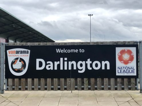 Darlington are one of 12 National League North clubs calling for a suspension of the season (Damian Spellman/PA)