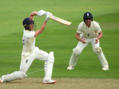 Dan Lawrence (batting) in action during an England intra-squad match (Stu Forster/Pool)