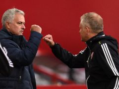 Chris Wilder (right) has praised Jose Mourinho (Oli Scarff/NMC Pool/PA)