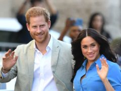 The Duke and Duchess of Sussex have donated food to volunteers working in a deprived area of California (Dominic Lipinski/PA)