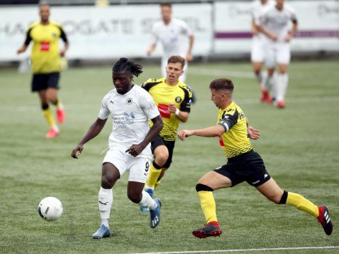 Boreham Wood forward Kabongo Tshimanga, left, scored twice in the first half (Tim Goode/PA)