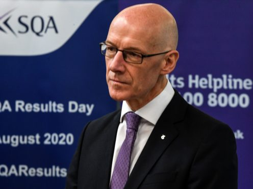 Education Secretary John Swinney announced that inspectors would assess the 'quality and effectiveness' of schools' remote learning (Andy Buchanan/PA)