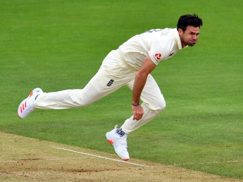 James Anderson claimed three wickets on the opening day (Glyn Kirk/PA)