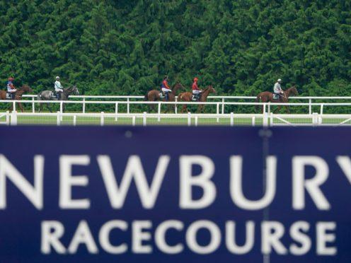 Runners make their way to the start at Newbury Racecourse (Alan Crowhurst/PA)