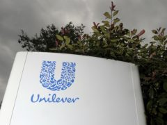 A Unilever sign. The consumer good giant is to enforce a raft of social commitments (Tim Ireland/PA)