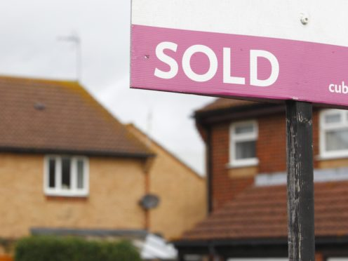 The number of properties listed for sale in Scotland in December was lower than the previous month (Chris Ison/PA)