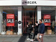 Marks & Spencer is poised to snap up Jaeger following its collapse last autumn (Stefan Rousseau/PA)