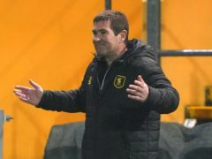 Nigel Clough celebrated an ideal start to the new year for Mansfield (Zac Goodwin/PA).