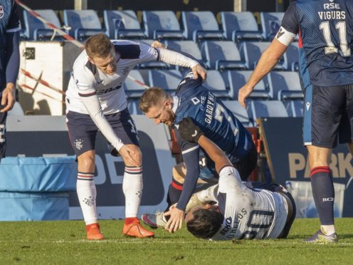 Michael Gardyne is in the clear over his clash with Alfredo Morelos (Jeff Holmes/PA)