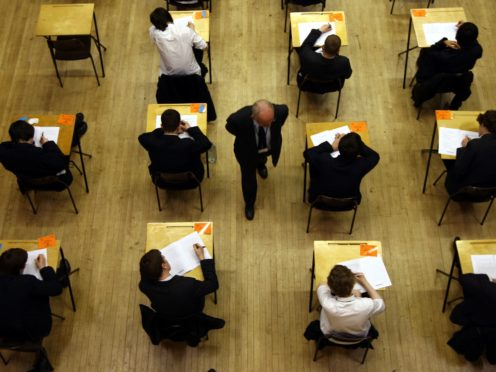 Gavin Williamson told MPs last week that he wishes to use a form of teacher-assessed grades to award results (PA)