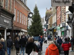 The relaxing of Covid-19 restrictions at the start of December helped retailers record a boost in sales (Andrew Matthews / PA)