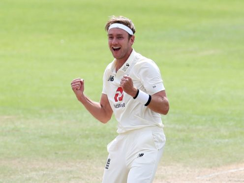 Stuart Broad was on form on day one of the Test series against Sri Lanka (Martin Rickett/PA)