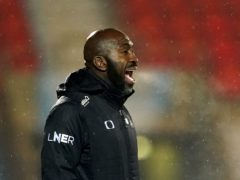 Darren Moore and Doncaster had a productive trip to Wiltshire (Zac Goodwin/PA)