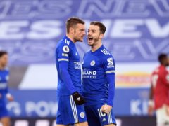 Jamie Vardy and James Maddison are expected to sit out Leicester's trip to Stoke (Michael Regan/PA)
