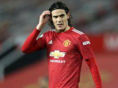Edinson Cavani is suspended for United (Martin Rickett/PA)