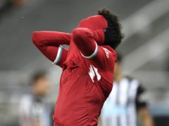 Mohamed Salah and his fellow Liverpool forwards are misfiring (Peter Powell/PA)