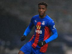 Wilfried Zaha missed Palace's defeat at Manchester City (Mike Egerton/PA)