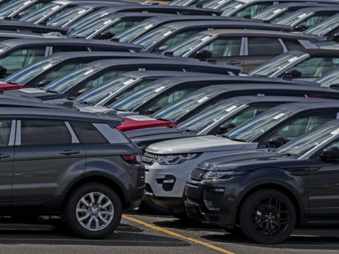 Huge fall in new car sales, reports SMMT (Peter Byrne/PA)