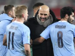 Pep Guardiola revelled in City's victory (Peter Powell/PA)