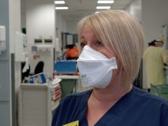 Matron Lindsey Izard at St George's Hospital in Tooting, south-west London (Marc Ward/PA)