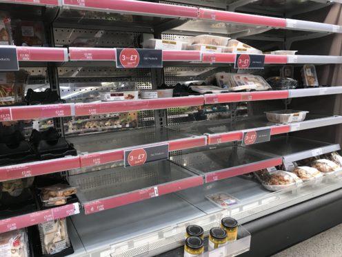 Empty shelves (Liam McBurney/PA)