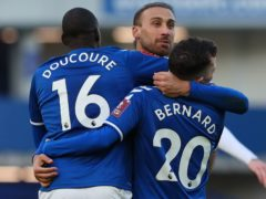 Everton edged into the fourth round (Peter Byrne/PA)