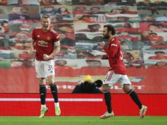 Scott McTominay, left, marked his first game as Manchester United with the only goal (Martin Rickett/PA)
