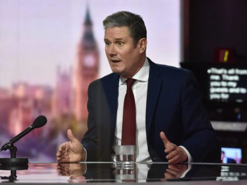 Labour leader Sir Keir Starmer appears on The Andrew Marr Show (Jeff Overs/BBC)