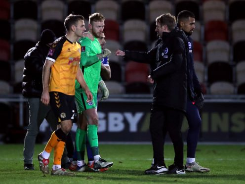 Brighton needed penalties to beat Newport (Nick Potts/PA)